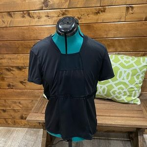 Lululemon Black Mesh Short Sleeve Shirt